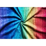 Little Frog jacquard wrap - Rainbow Harmony Ring Sling