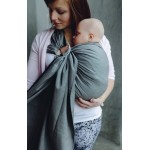 Little Frog Graphite Herringbone Ring Sling