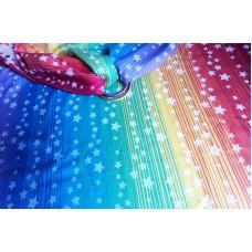 Little Frog jacquard wrap - Rainbow Stars Ring Sling