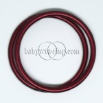 Nicerings - large rings (pair) - Burgundy