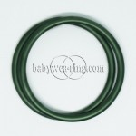 Nicerings - large rings (pair) - Dark green
