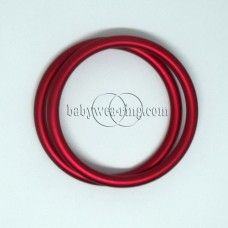 Nicerings - medium rings (pair) - Red