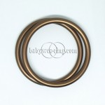 Nicerings - medium rings (pair) - Brown