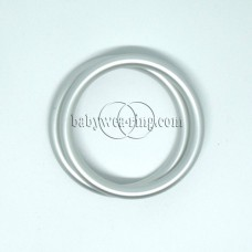 Nicerings - small rings (pair) - Matte silver