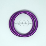 Nicerings - small rings (pair) - Purple