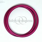 Nincerings large aluminium rings (pair) - Raspberry