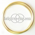 Nicerings - extra large rings (pair) - Shinny Gold