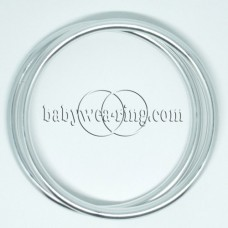 Nicerings - extra large rings (pair) - Shiny silver